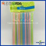 Paja de beber plástica del color fluorescente de la fuente del partido flexible (FL075)