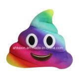 재미있은 아이 견면 벨벳 장난감 다채로운 고물 Emoji 베개