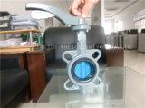 알루미늄 손 승인되는 세륨 ISO를 가진 레버에 의하여 운영하는 나비 벨브 (D71X-10/16)