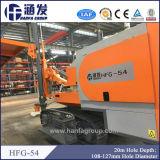Hfg-54 abajo de la máquina del taladro de martillo del orificio con el compresor de aire