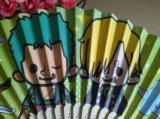 Ventilador de la mano del papel de estilo chino con impreso
