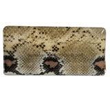 Raccoglitore di cuoio dell'unità di elaborazione della pelle di serpente, chiusura lampo, signora Wallet di disegno semplice