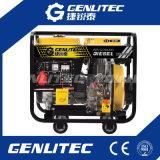 Охлаженный воздухом генератор дизеля старта 6kw одиночного цилиндра электрический