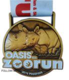Medaglia del premio del ricordo, oasi 10k, esecuzione del giardino zoologico, stazione di finitura, bronzo antico