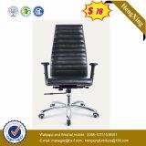 Présidence en cuir de bureau en métal de chrome de présidence de gestionnaire de dos de milieu (Hx-801b)