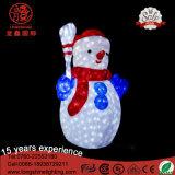 Indicatore luminoso di natale acrilico decorativo di motivo del pinguino della renna del pupazzo di neve IP65 3D del LED con Ce