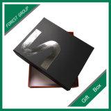 Caixa de presente impressa da folha de prata de Matt logotipo preto (FP8039117)