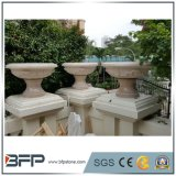 Hot Sale Beige Granite Flower Pot with Cheap Price