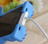 Accesorios suaves del teléfono móvil de la historieta del silicón de la puntada azul del color de rosa 3D para J7 la prima/un caso 7 2016