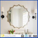 Espejo de plata ondulado ampliamente utilizado Unframed en talla de encargo