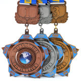 Médaille de rotation personnalisée de sport d'enjeu en alliage de zinc pour le marathon