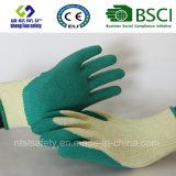 Перчатки латекса резиновый, перчатки работы безопасности отделки Sandy (SL-R503)