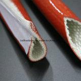 Gainer enduit de silicone résistant au feu hydraulique de fibre de verre de protection contre la chaleur de boyau