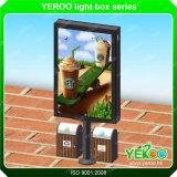 2017 Street Solar Outdoor Boîte à lumière LED avec poubelle