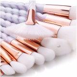 Profesional 10PCS cara Fundación unicornio cepillo cosméticos Set
