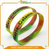 Wristband caldo del silicone di vendita con smalto molle