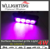 Indicatore luminoso di superficie viola del supporto LED dei 4 LED