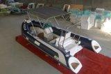 Boot van de Ribben van de Glasvezel van Ce de Opblaasbare met Console