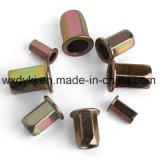 Noix Hex principale plate de rivet d'acier du carbone