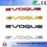 Emblema de la carta de Evoque del amarillo de la etiqueta engomada de la parte posterior del coche del ABS para range rover