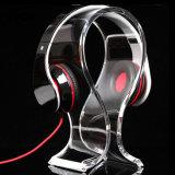 L support acrylique d'étalage d'écouteur de stand de table de forme