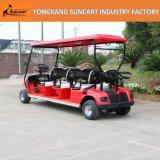 Мощная тележка гольфа 6 персон красного цвета электрическая, Sightseeing тележка гольфа, дешевая тележка гольфа для сбывания