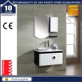 Élément noir et blanc personnalisé à extrémité élevé de vanité de salle de bains de peinture