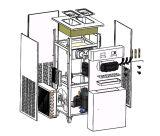 Máquina macia modelo do gelado do assoalho/grande produção