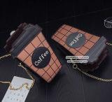 Мешок плеча цвета удара столкновения сумок PU кофеего способа с покупкой большого части Gril от Китая Sy8118