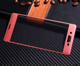 La surface incurvée des accessoires 3D de téléphone mobile a complètement couvert le film protecteur en verre Tempered de protection pour Sony XP