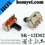 Прямоугольный миниый переключатель до тип переключатели отверстия скольжения Spdt (SK-12F14)