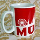 卸し売り11oz赤い陶磁器のコーヒー・マグのコップ