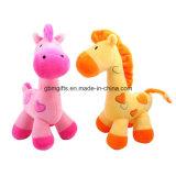 Plüsch Brown/gelbes Pferden-Spielzeug für Kinder