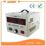 Suoer 12V 24V 10A 재충전용 태양 전지 충전기 (A03)