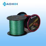 Línea de la pesca del color verde del PE invisible del arranque de cinta
