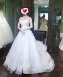 연인 Champagne 수정같은 돌 (W709)를 가진 신부 결혼식 무도회복