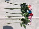 Künstliche Rosen-Knospe blüht reale Noten-Fälschungs-Blumen für Haupthochzeits-Dekoration