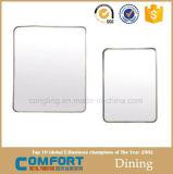 Vierecks-konkurrierendes Qualitäts-Leuchte-Silber-dekorativer Badezimmer-Spiegel