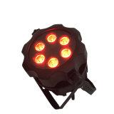 Rasha 단계 6*18W 6in1 Rgbaw UV 배터리 전원을 사용하는 무선 LED 동위의 옥외 Waterprppf LED 동위 빛은 가벼운 영사기를 상연할 수 있다