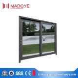 Madoyeの高品質の倍ガラスの熱的に壊されたアルミニウムによって組み立てられるスライディングウインドウ