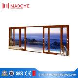 Раздвижная дверь самомоднейшего типа сверхмощная алюминиевая с Tempered стеклом для виллы