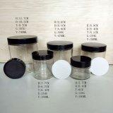 frascos de vidro do armazenamento do cilindro de 3oz 6oz 10oz 26oz na promoção