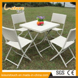 Patio Leisuure Dining Furniture Rattan Aluminium Metal Hotel Bistro Cadeira de dobrar