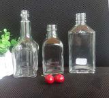 botella de cristal del whisky sin plomo transparente de alto grado 250ml
