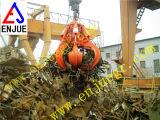 La basura hidráulica eléctrica del gancho agarrador de la basura de la cáscara anaranjada ataca la central eléctrica