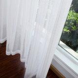 Tela escarpada de la cortina de la venta de la gasa blanca de lino caliente del algodón