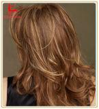 Peluca del pelo del cordón del frente del pelo ondulado del pelo humano del 100%