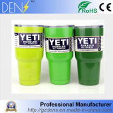 Vácuo verde fluorescente copo isolado do Yeti do refrigerador do Tumbler do Rambler do Yeti do aço inoxidável