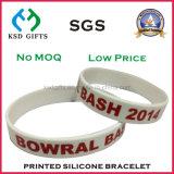 Dare via il Wristband del silicone stampato marchio