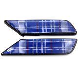 小型Clubmanのための黒いSpeedwellの青い置換の側面ランプカバー